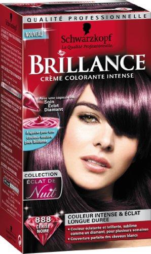schwarzkopf brillance coloration permanente eclat de nuit cerise noire 888 amazonfr hygine et soins du corps - Coloration Noir Cerise