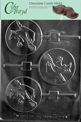 Cybrtrayd Life of the Party H117 Halloween Witch Lolly Chocolate Candy Mold in Sealed Protective Poly Bag Imprinted with Copyrighted Cybrtrayd Molding Instructions (Bag Witch Candy)