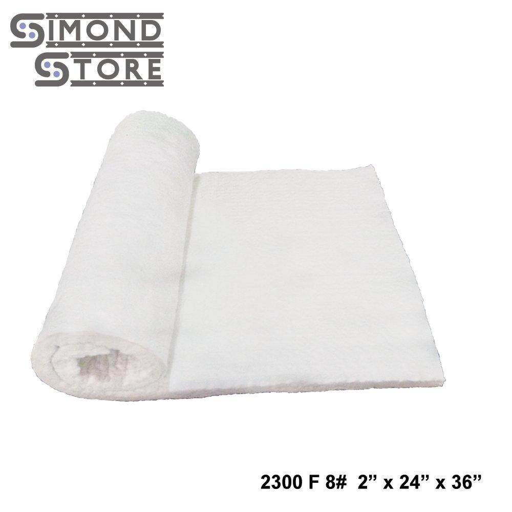 Ceramic Fiber Insulation Blanket 2300 F 8 lbs 2'' X 24'' X 36'' (B12J)