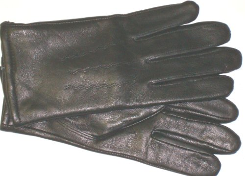 imported-genuine-black-leather-microfiber-lined-mens-gloves-size-medium