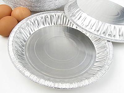 """Disposable/reusable Aluminum 9 5/8"""" Deep Pie Pan #1042 - 30 Oz. Capacity"""