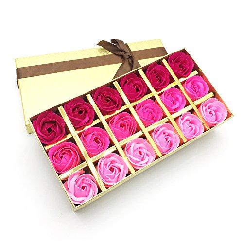 Jialeey 18 PCS Of Plant Essential Oil Rose Soap Set Flowers