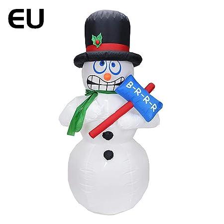 iBàste - Muñeco de Nieve eléctrico (1,8 m, Hinchable ...