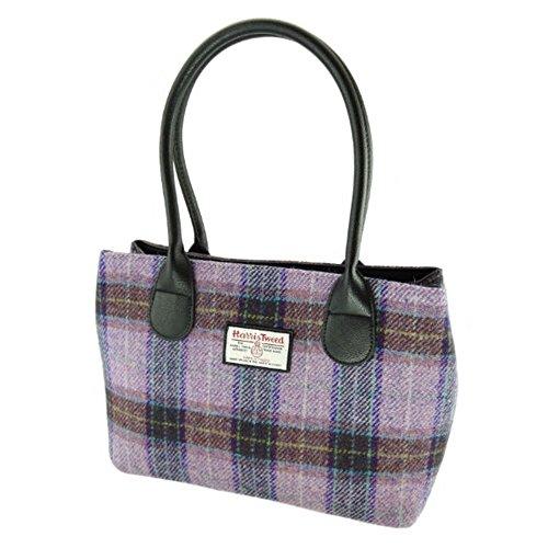 Authentic Harris Tweed Ladies Cassley Shoulder Handbag - LB1003 Lilac