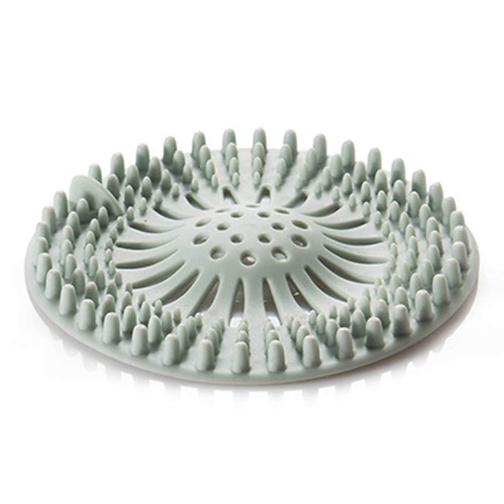 Alivier vasca colino tappo per scarico lavandino protezioni di scarico della doccia gomma raccogli capelli Floorlaundrykitchenbathroom, Blue, 13x13x1cm