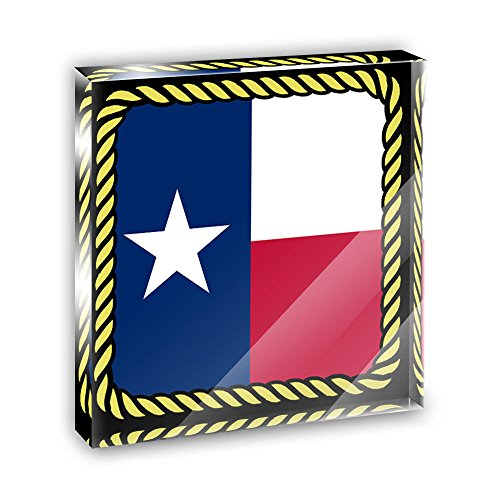 Texas State Flag Acrylic Office Mini Desk Plaque Ornament Paperweight