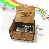 Rabi Wooden Music Box Hand Crank Music Box