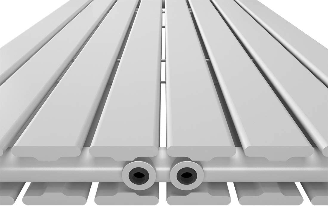 Antrazit Bath-mann Design Flach Heizk/örper 630 x 620 mm Horizontale Panelheizk/örper Seitenanschluss Einreihig Heizung 469 Watt
