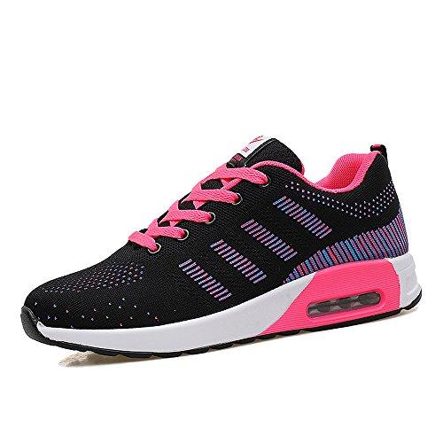 Zr627heise36 Enllerviid Donna Mesh Air Max Sport Scarpe Da Corsa Moda Walking Sneakers Nero 5.5 B (m) Us