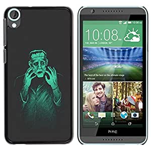 Be Good Phone Accessory // Dura Cáscara cubierta Protectora Caso Carcasa Funda de Protección para HTC Desire 820 // Man Monster Creation Mad Genius Art Ai Robot