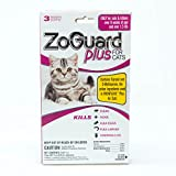 ZoGuard Plus Flea and Tick Prevention for Cats,3 Months Protection, Over 1.5 lbs, 3 Doses