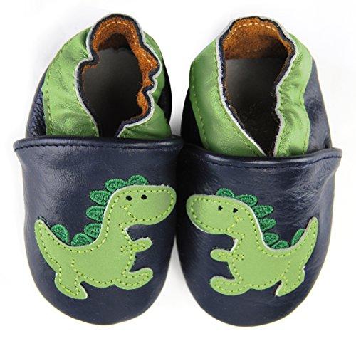 axy Baby Lederschuhe Lauflernschuhe Krabbelschuhe Babyschuhe Kindergartenschuhe - Dinosaurier