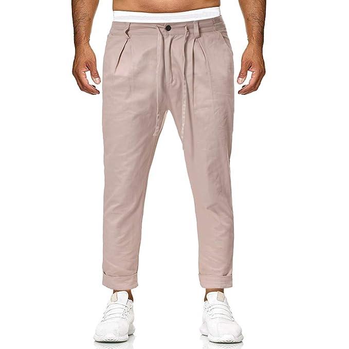 Pantalones para Hombre,Chándal de Hombres Color sólido Gym ...
