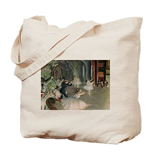 CafePress - The Rehearsal Of The Ballet On Stage By Edgar Dega - Natural Canvas Tote Bag, Cloth Shopping Bag by CafePress