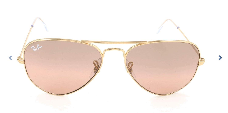 Ray-Ban Gafas De Aviador En Espejo Rosa Marrón De Oro Cristal - Rb3025 001-3e 58 Rb3025 001-3e 58