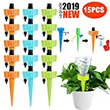 Farielyn-X Plant Waterer, Adjustable Plant Watering Devices, Self Watering Spikes, Automatic Vacation Drip Irrigation Watering Bulbs Globes with Slow Release Control Valve Switch (15 Pack - Upgrade)