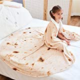CASOFU Burritos Blanket, Giant Flour Tortilla Throw Blanket, Novelty Tortilla Blanket for Your Family, 285 GSM Soft and Comfortable Flannel Taco Blanket for