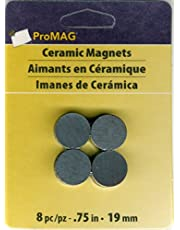 ProMag AFG12507 ímã redondo de cerâmica, 2,9 cm, pacote com 8