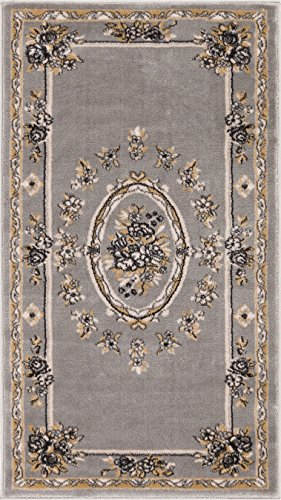 Well Woven 36383 Timeless Le Petit Palais Traditional Medallion Grey Area Rug 2'3