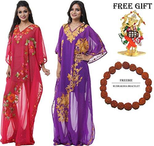 Kaftan Kashmiri Up Long Combo 231 Beach Stylish Georgette Dress Cover Odishabzaar qtpAHxE