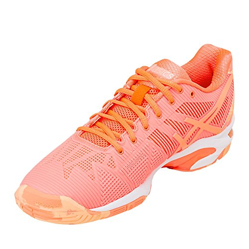 Speed Gel L Asics SS18 Tennis Solution Shoes E Women's 3 Orange 1E4wdwq
