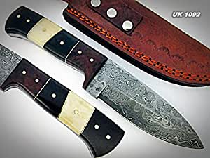 Price Reduced - BC-T-055 - Custom Handmade Damascus Steel Knife- Beautiful knife