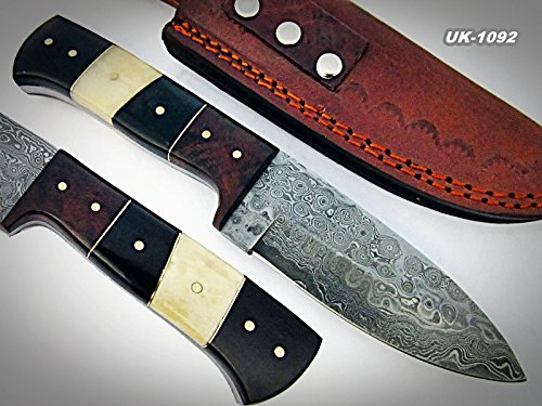 Price Reduced - BC-T-055 - Custom Handmade Damascus Steel Knife- Beautiful knife
