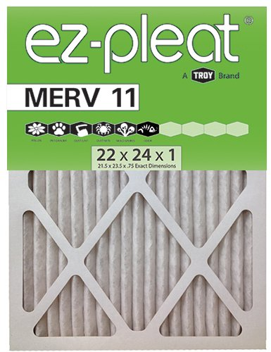 MERV 11 Fan Coil Air Filter 22x24x1 (21.5x23.5x.75), 6-Pack, For Bryant/Carrier Units