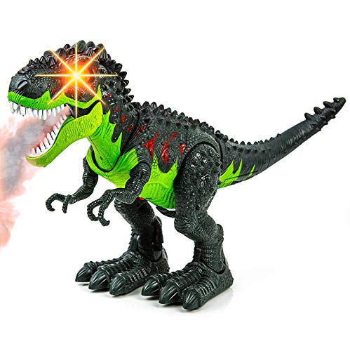 Toysery Simulated Flame Spray Tyrannosaurus T-Rex Dinosaur Toy for Kids - Walking Dinosaur Fire Breathing Water Spray Mist with Red Light & Realistic Sounds by Toysery (Image #6)