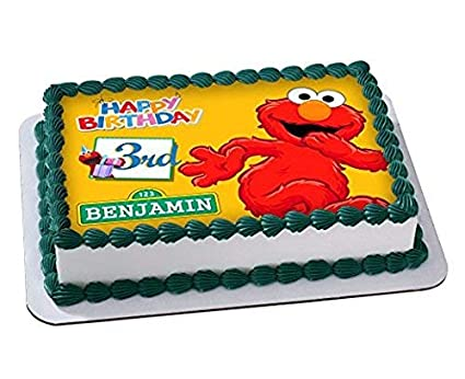 Amazon Com Elmo Sesame Street Edible Cake Topper