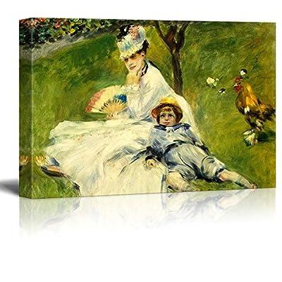Beautiful Craft, Professional Creation, Madame Monetand her Son by Pierre Auguste Renoir Impressionist Art