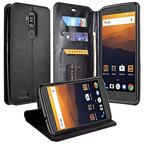 ZTE Max XL Case, ZTE Blade Max 3 Case, ZTE Zmax Pro 2, Mstechcorp, Wallet Flip Protective Case Cover with Card Slots and Stand for ZTE Max XL/ZTE Blade Max 3/ZMax Pro 2 with Goodie (Fold (Weed Zte Phone Cases)