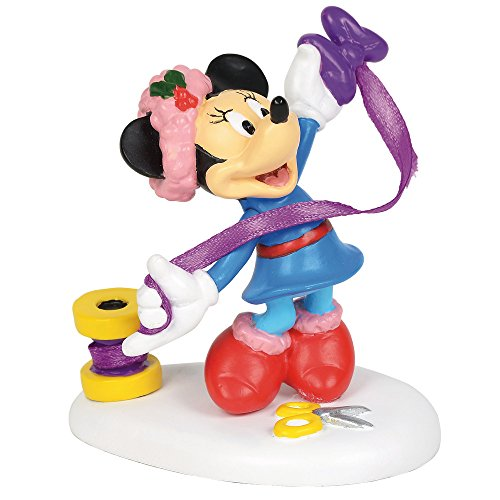 Department 56 Disney Village Minnie s Finishing Touch Accessory, 2.5 inch