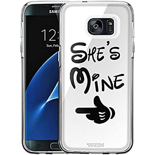 Samsung Galaxy S7 Edge Case, Snap On Cover by Trek She's Mine on White One Piece Trans Case Sales
