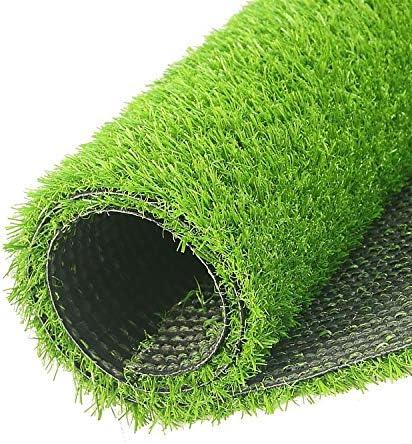 人工芝屋外緑 20mmパイルハイト人工芝|安いナチュラル&リアルなアストロガーデン芝生を探しています。6フィート6インチ(2メートル)幅はあなた自身の長さを選択してください|高密度フェイクターフ 高密度偽の芝生犬 (Color : 2m x 1m)