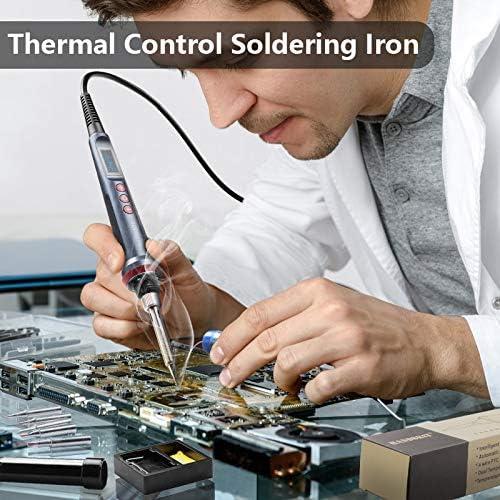 fer /à souder /électrique outils de soudure /à 4 fils Handskit Kit Fer /à souder num/érique /à LED 90 W 220 V avec r/églage de la temp/érature