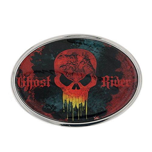 Diamond Skull Belts Clothing (Jewel M Ghost Rider Logo Round Belt)