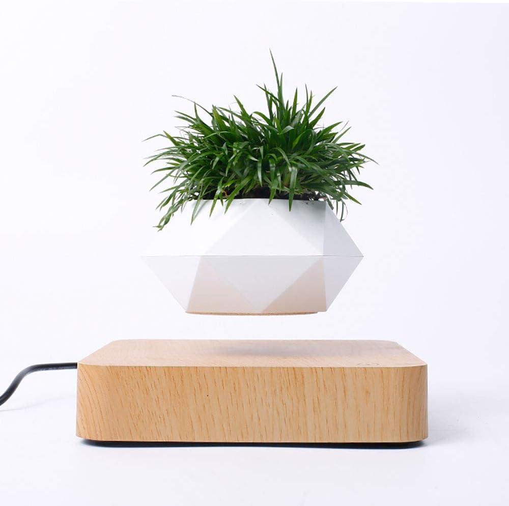 HHY-J Maceta de rotación de Maceta de bonsái de Aire levitación magnética suspensión Flotante Maceta en Maceta decoración de Escritorio para el hogar,A