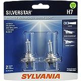 SYLVANIA H7 SilverStar High Performance Halogen Headlight Bulb, (Contains 2 Bulbs)