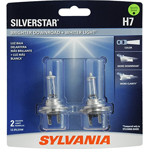 SYLVANIA H7 SilverStar High Performance Halogen Headlight Bulb, (Contains 2 Bulbs)
