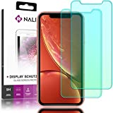 NALIA (2-Pack) Screen Protector compatible with iPhone XR, 9H Full-Cover Tempered Glass Smart-Phone Protective Display Film, Durable LCD SaverProtection Foil, Shatter-Proof Front - Transparent Clear