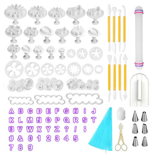 Fondant Tools Fondant Decoarting Tools - 97 pcs Fondant Cutter Cake Decorating Kit