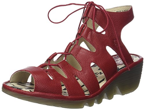 Mouche London Womens Port813fly Sandale Rouge À Lèvres Mousse Rouge