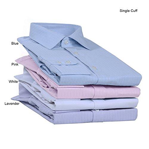 Cielo Modelo O British De Apparel Hombres Relajado Azul Estilo janeo 48 Manga Camisa Larga Finas Dobles Puños Clásico Canterbury Para Lavanda Formal Rayas Blancas BAqXwnWZ