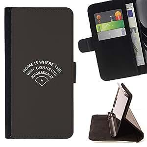 Momo Phone Case / Flip Funda de Cuero Case Cover - Wifi Inicio;;;;;;;; - Sony Xperia Z5 Compact Z5 Mini (Not for Normal Z5)