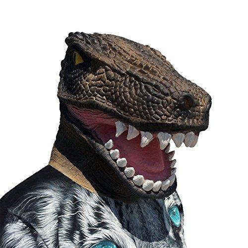 Men's Deluxe Adult Latex Crocodile Mask (Crocodile mask)