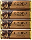 Godiva Chocolatier Solid Chocolate, 1.5Ounce Each, Pack of 4, Packaging May Vary