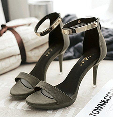Aisun Zipper Stilettos Dressy Frauen Grün Schuhe High Sandalen 4rErw