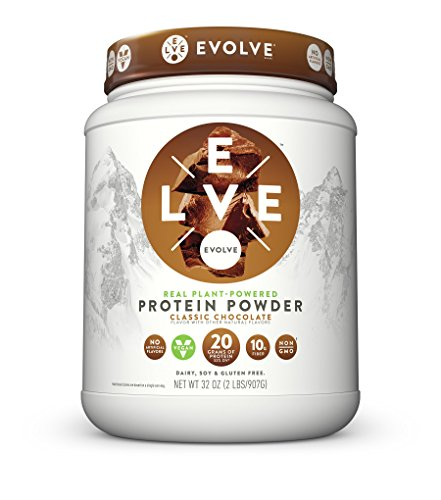 Evolve Protein Powder, Classic Chocolate, 20g Protein, 2 Pound from Evolve