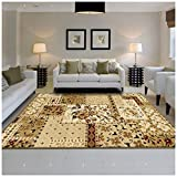 Superior Flower Patch Collection Area Rug, Beautiful Floral Patchwork Design, 10mm Pile Height with Jute Backing, Affordable Contemporary Rugs – 5′ x 8′ Rug Review